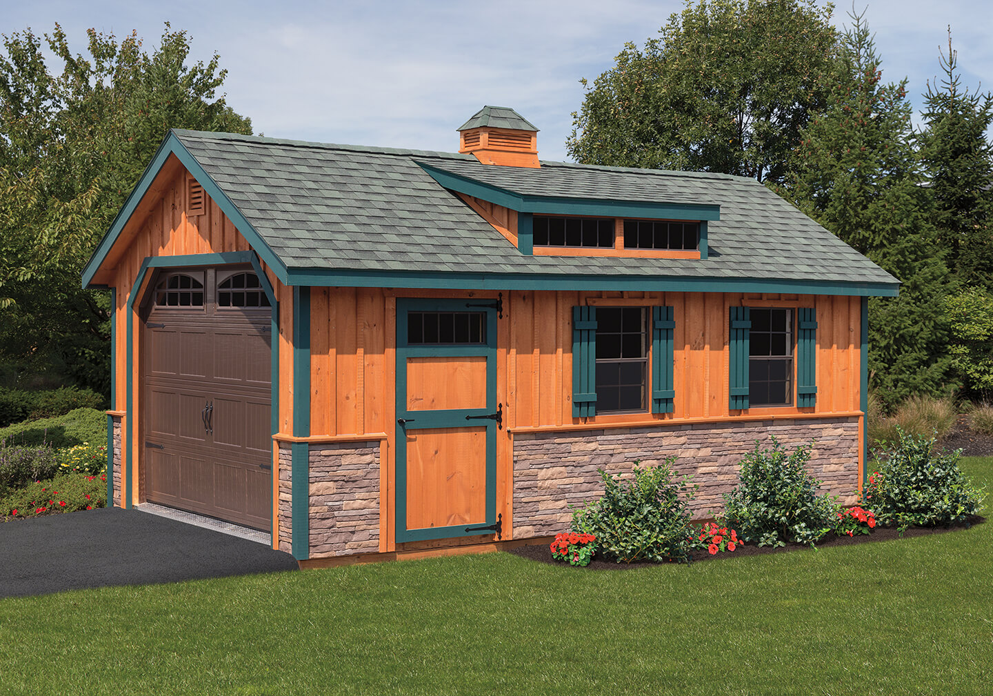 Pre Built Amp Custom Garages Cedar Craft Storage Solutions