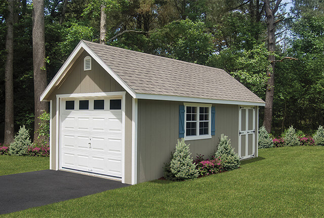 12'x24' Garage with Optional 9/12 Roof Pitch