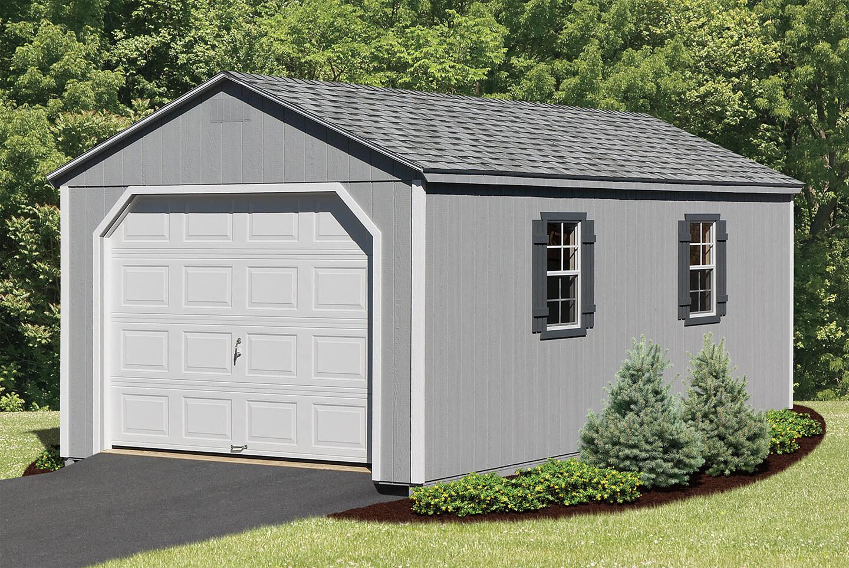 Custom Wood Garage : Pre built custom garages cedar craft storage solutions