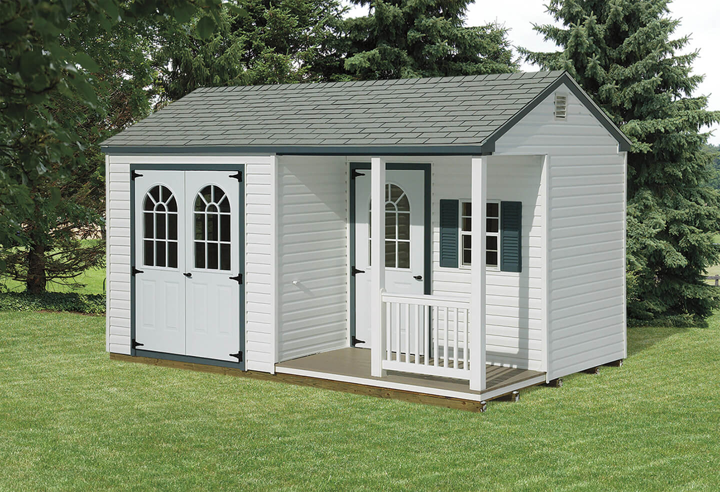 0x14 vinyl a frame with 4x8 porchl this model - Garden Sheds 7 X 14