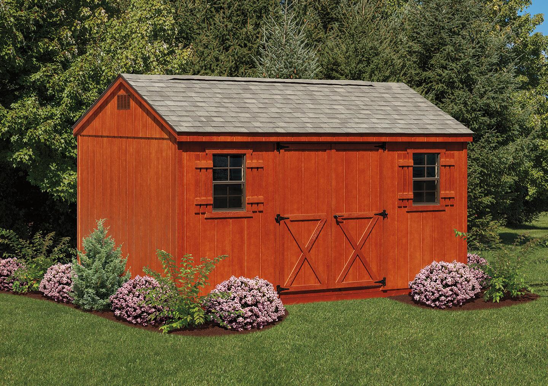 Vinyl a frame storage sheds cedar craft storage solutions for Cedar ridge storage