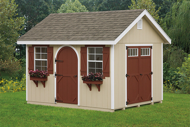 10'x12' Classic with Single Round Top Door