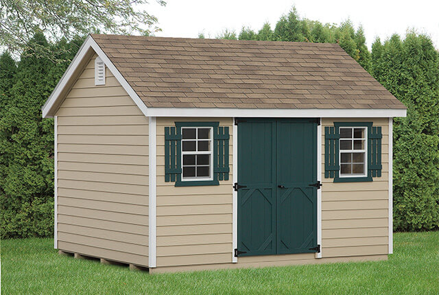 10'x12' Classic - Painted Wood Lap Siding