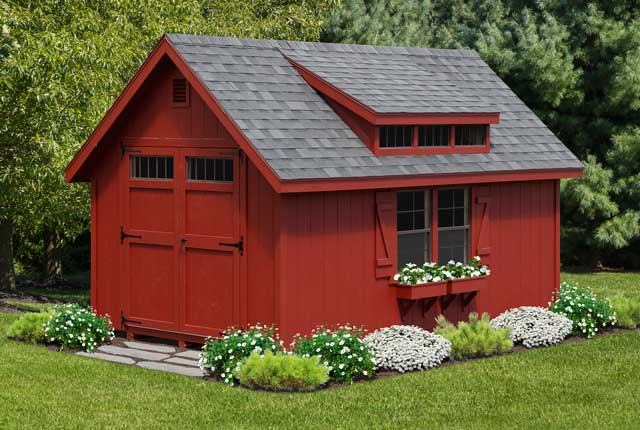 10' x 14' Classic Painted Board & Batten w/ Optional Dormer