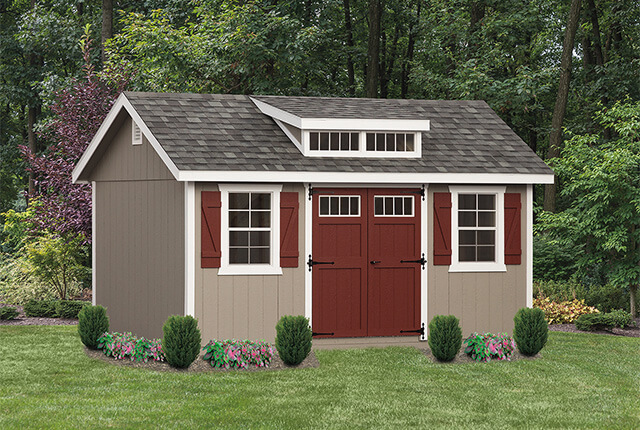10'x16' Classic - Painted with Optional Shed Dormer & Transom Windows in Doors
