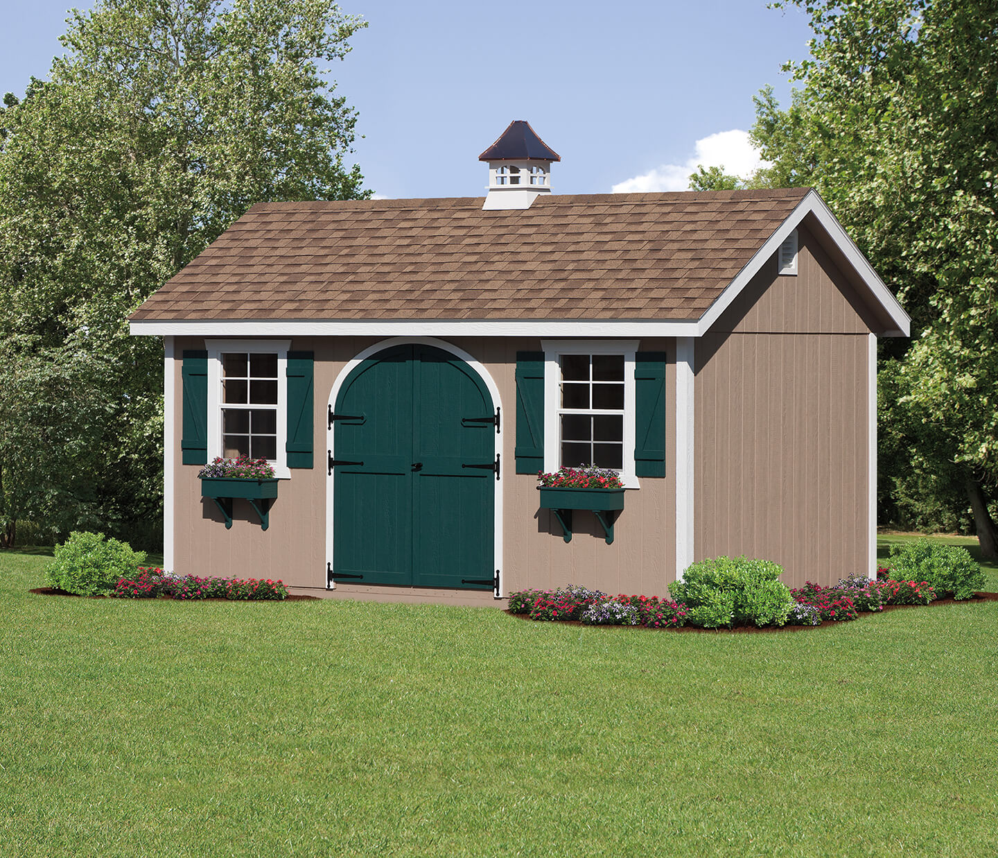 Charmant 12u0027x20u0027 Classic With Double Round Top Door And Copper Top Cupola