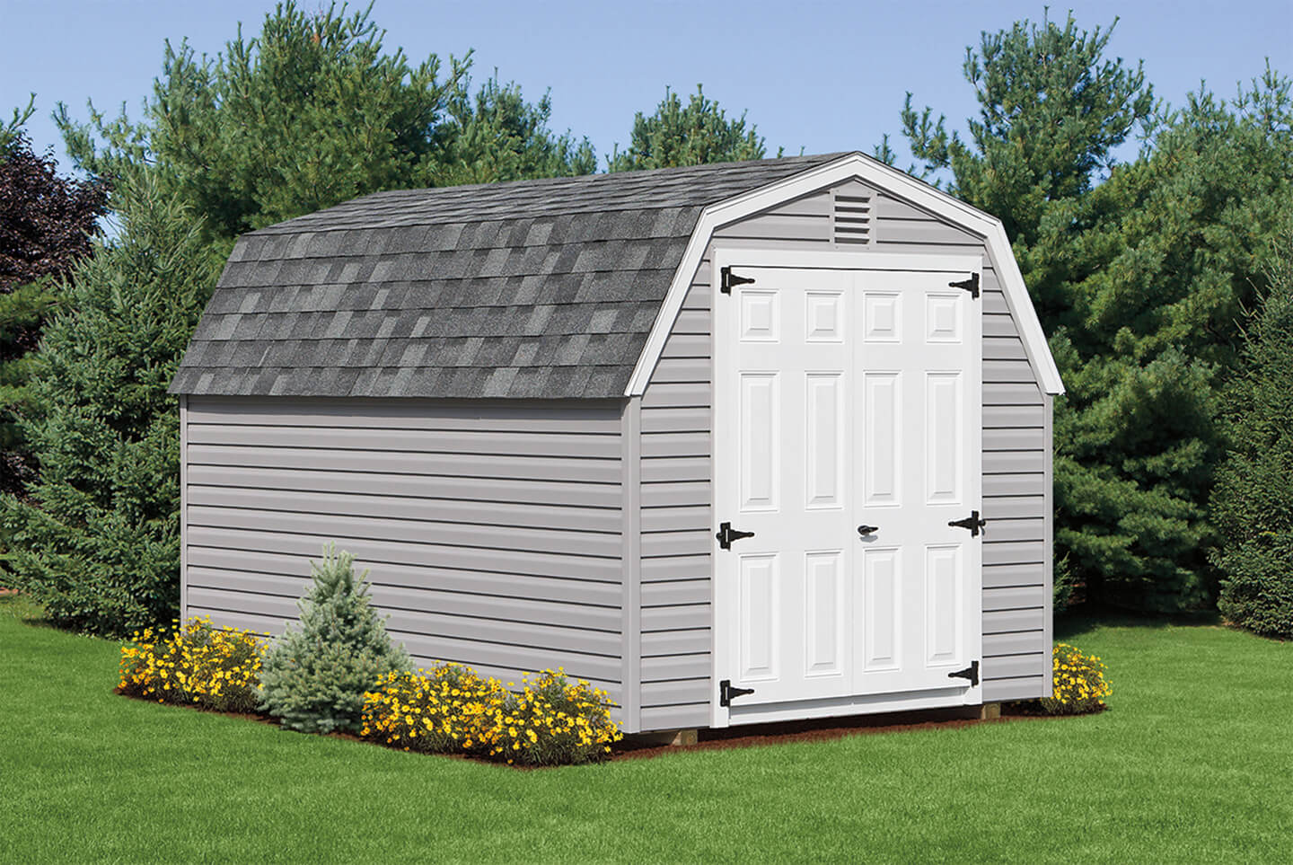 mini barn hip roof sheds cedar craft storage solutions