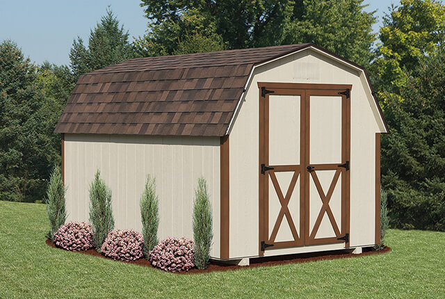 Storage sheds cedar craft storage solutions for Mini barn shed