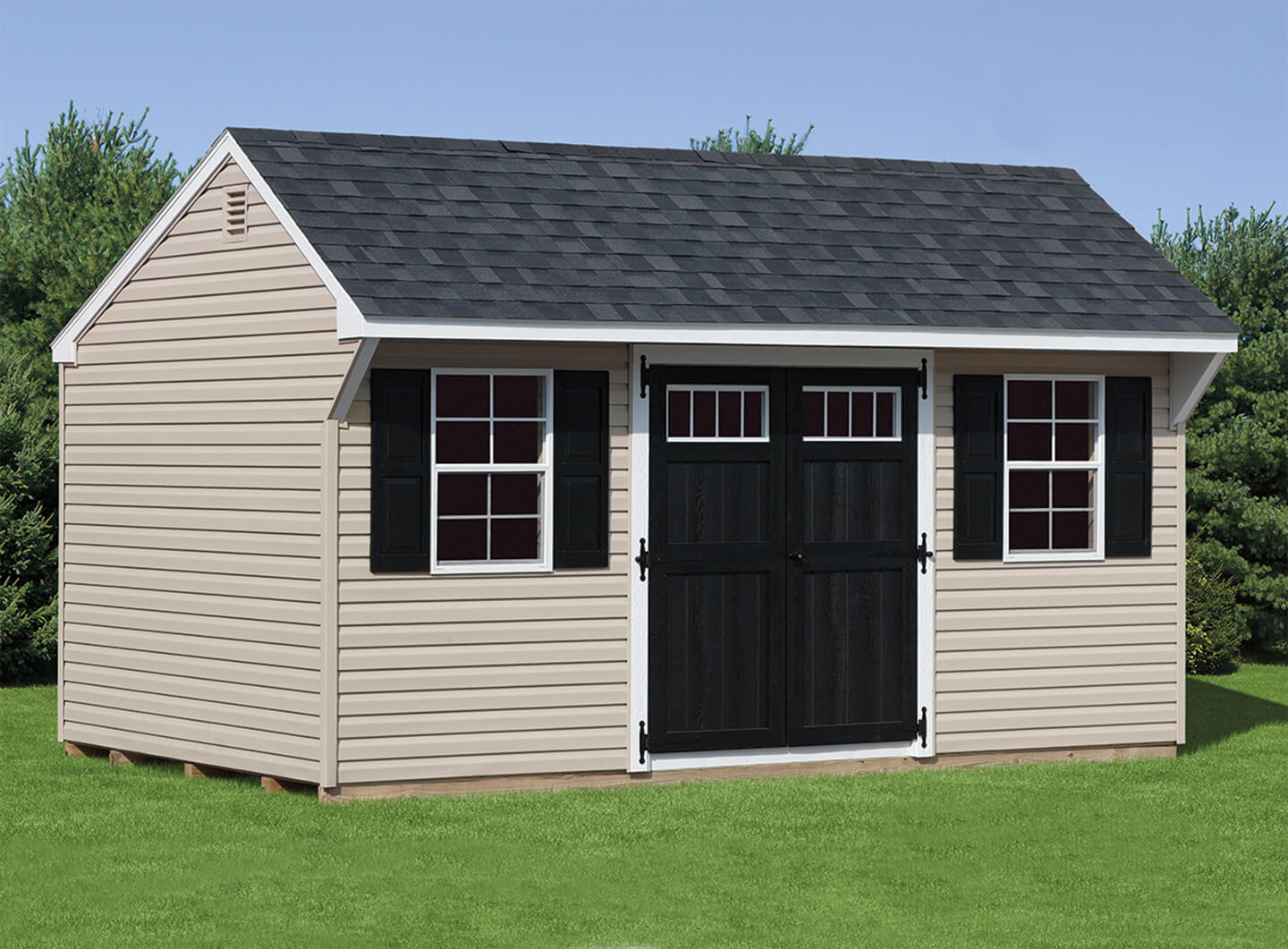 10x14 shed plans 10x14 lean to shed plans door on angled for Quaker barn home designs