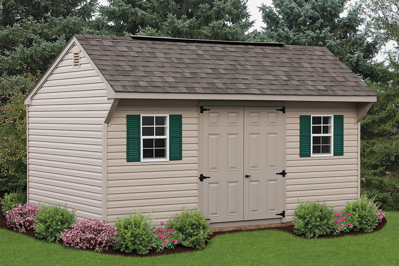 Quaker doors 8x15 quaker shed with carriage house doors for Cedar ridge storage
