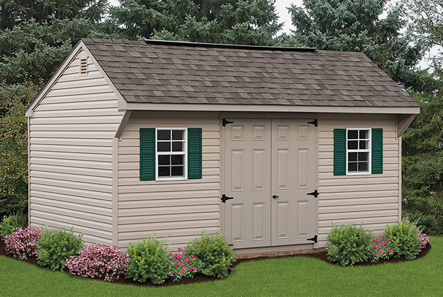 10'x16' Quaker with Painted Doors and Ridge Vent