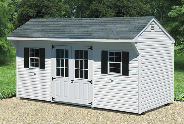 8'x14' Quaker Features Double 9 Lite Doors